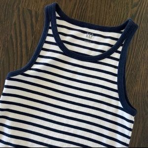 Gap Modern Tank Top navy stripe s